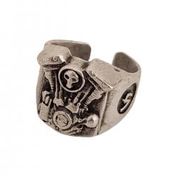 انگشتر مردانه طرح اسکلت کد a149