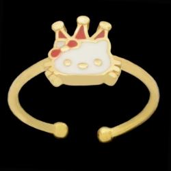 انگشتر طلا 18 عیار دخترانه طلای مستجابی مدل عروسک کد 101