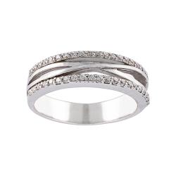 انگشتر طلا 18 عیار جواهری سون مدل 2051