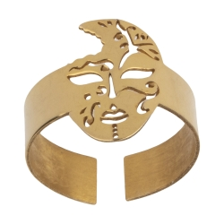 انگشتر طلا 18 عیار زنانه میو گلد مدل GD552-56