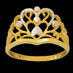 انگشتر طلا 18 عیار زنانه طلای مستجابی مدل تاج کد 670164