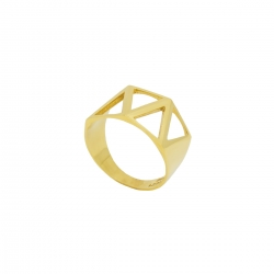 انگشتر طلا 18 عیار زنانهطرح مثلث A0033