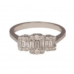 انگشتر طلا ۱8 عیار زنانه کد 01027