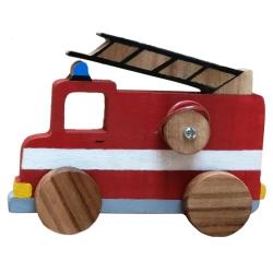 اسباب بازی چوبی مدل ماشین آتش نشانی کد 1056