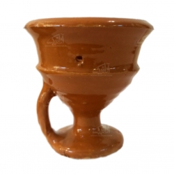 اسپند سوز سفالی لعاب ساده  رنگ قهوه ای مدل 1002300001