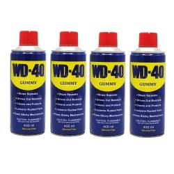 اسپری روان کننده گامی مدل WD-40 حجم 400 میلی لیتر مجموعه 4 عددی