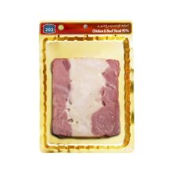 استیک گوشت و مرغ تنوری 95 درصد 202 وزن 300 گرم