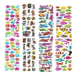 استیکر کودک طرح جانوران دریا و سگ و ستاره و هواپیما کد MT111 مجموعه 4 عددی
