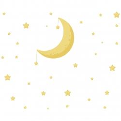 استیکر کودک طرح ماه و ستاره
