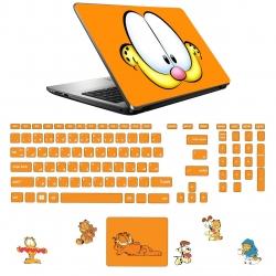 استیکر لپ تاپ مدل a.h s1 مناسب برای لپ تاپ 15.6 اینچ به همراه برچسب حروف فارسی کیبورد