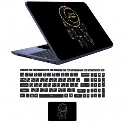 استیکر لپ تاپ مدل bl-ck 06 مناسب برای لپ تاپ17 اینچ به همراه برچسب حروف فارسی کیبورد