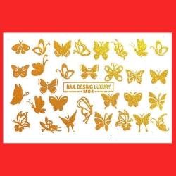 استیکر طراحی ناخن طرح پروانه کد mT 04