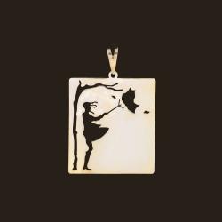 آویز گردنبند طلا 18 عیار زنانه آمانژ کد D10460