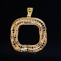 آویز گردنبند طلا 18 عیار زنانه  گالری یارطلا مدل سه بعدی کد PL3D06
