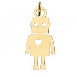 آویز گردنبند طلا 18 عیار زنانه کرابو طرح آدم آهنی مدل Kr3037