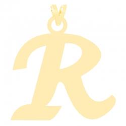 آویز گردنبند طلا 18 عیار زنانه کرابو طرح حرف R مدل Kr3637