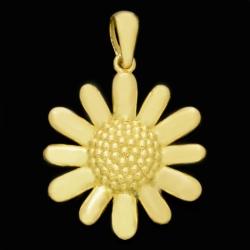 آویز گردنبند طلا 18 عیار زنانه طلای مستجابی مدل آفتابگردان کد 6715