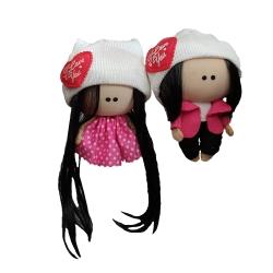 آویز عروسکی مدل دختر و پسر روسی کد 005 مجموعه 2 عددی