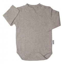 بادی آستین بلند نوزادی آدمک کد 171001 رنگ کرم