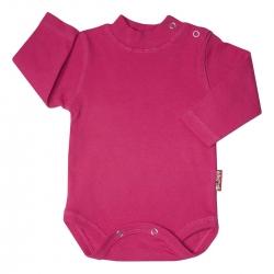 بادی آستین بلند نوزادی آدمک کد 171001 رنگ سرخابی