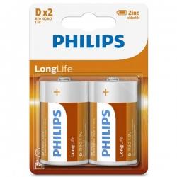 باتری D فیلیپس مدل R20L2B/97 بسته 2 عددی