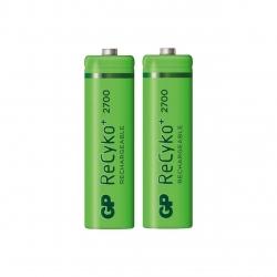 باتری قلمی قابل شارژ جی پی مدل ReCyko Plus 2700 بسته 2 عددی