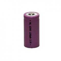 باتری لیتیوم یون قابل شارژ کد 16340 ظرفیت 1200 میلی آمپرساعت