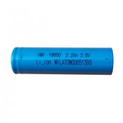 باتری لیتیوم یون میلاتون مدل 18650 ظرفیت 2200 میلی آمپر ساعت