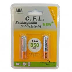باتری نیم قلمی قابل شارژ سی اف ال مدل CF-056 بسته دو عددی
