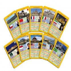 بازی فکری طرح کارت کشورهای جهان مدل B6
