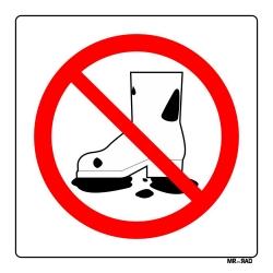 برچسب ایمنی مستر راد طرح با کفش کار کثیف و آلوده وارد نشوید کد LR00137 بسته دو عددی