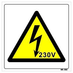 برچسب ایمنی مستر راد طرح خطر برق گرفتگی کد LY00154 بسته دو عددی