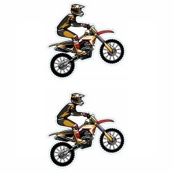 برچسب بدنه موتور سیکلت طرح MOTOR کد 02 بسته 2 عددی