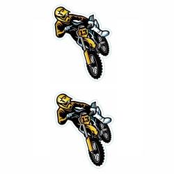 برچسب بدنه موتور سیکلت طرح MOTOR کد 03 بسته 2 عددی