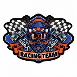 برچسب بدنه موتور سیکلت طرح RACING TEAM کد 1