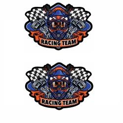 برچسب بدنه موتور سیکلت طرح RACING TEAM کد 1 بسته 2 عددی