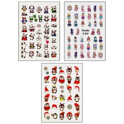برچسب لنز ناخن کد D84-D91-N005 مجموعه 3 عددی