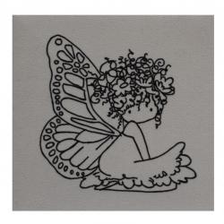 بوم رنگ آمیزی مدل فرشته کد 53 سایز 15×15 سانتی متر