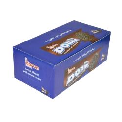 بیسکویت کاکائویی با کرم کاکائویی دربیس درنا  بسته 10 عددی