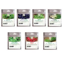 بذر سبزیجات نیکوبذر کد 3085 مجموعه 7 عددی