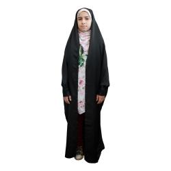چادر دانشجویی دخترانه حجاب فاطمی مدل الاسود کد 11002