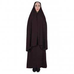 چادر قجری شهر حجاب کد 01 رنگ قهوه ای