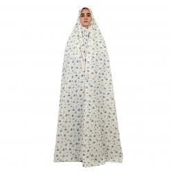 چادر نماز مدل سنتی مقنعه دار رنگ آبی