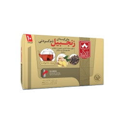 چای کیسه ای دم کردنی زنجبیلی چای دبش بسته 10 عددی
