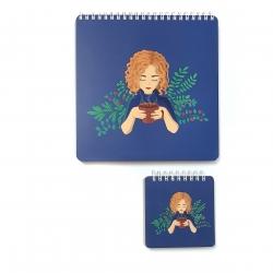 دفتر نقاشی یاس آکام مدل آلینا مجموعه دو عددی