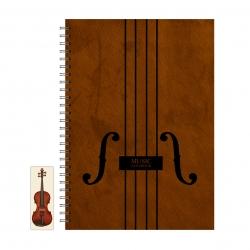 دفتر نت موسیقی 50 برگ پیکولو استودیو مدل string به همراه نشانگر کتاب