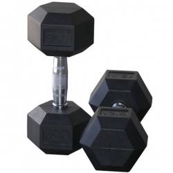 دمبل مدل شش ضلعی وزن ۲۷.۵ کیلوگرم بسته ۲ عددی