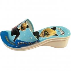 دمپایی دخترانه مدل دختر کفشدوزکی رنگ آبی