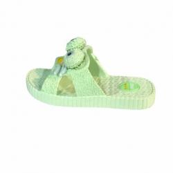 دمپایی پسرانه مدل پنگول رنگ سبز آبی