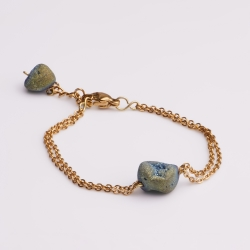 دستبند دخترانه مدل سنگ فایرآگات کد 10